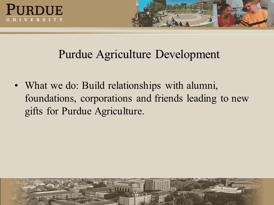 Purdue Agriculture Development