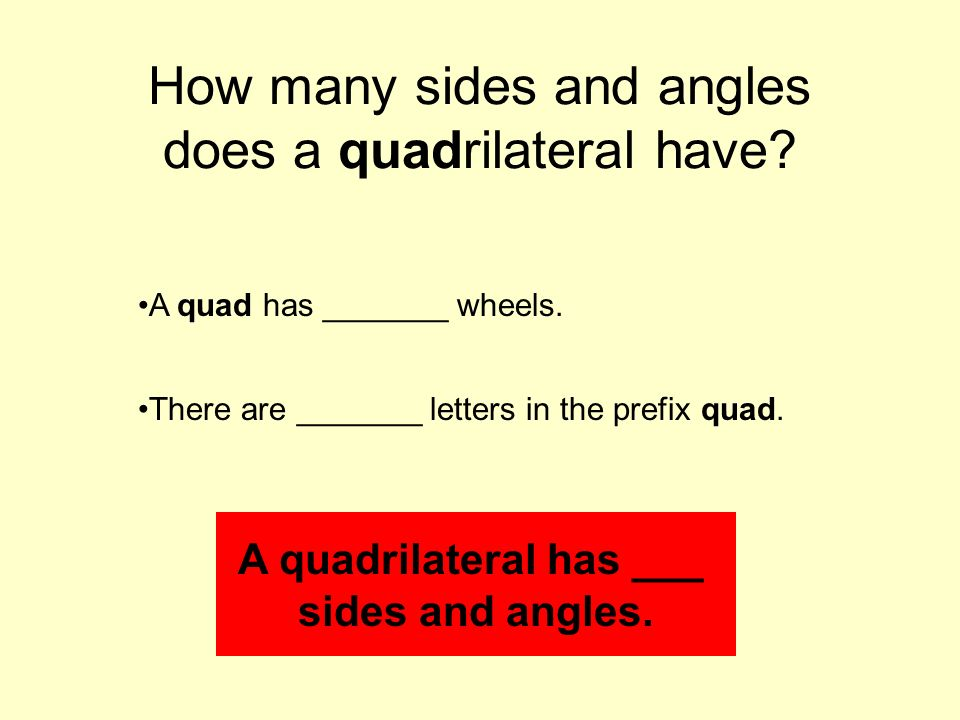 how many letters are there in the alphabet math centers click to get to started ppt 22180 | How many sides and angles does a quadrilateral have