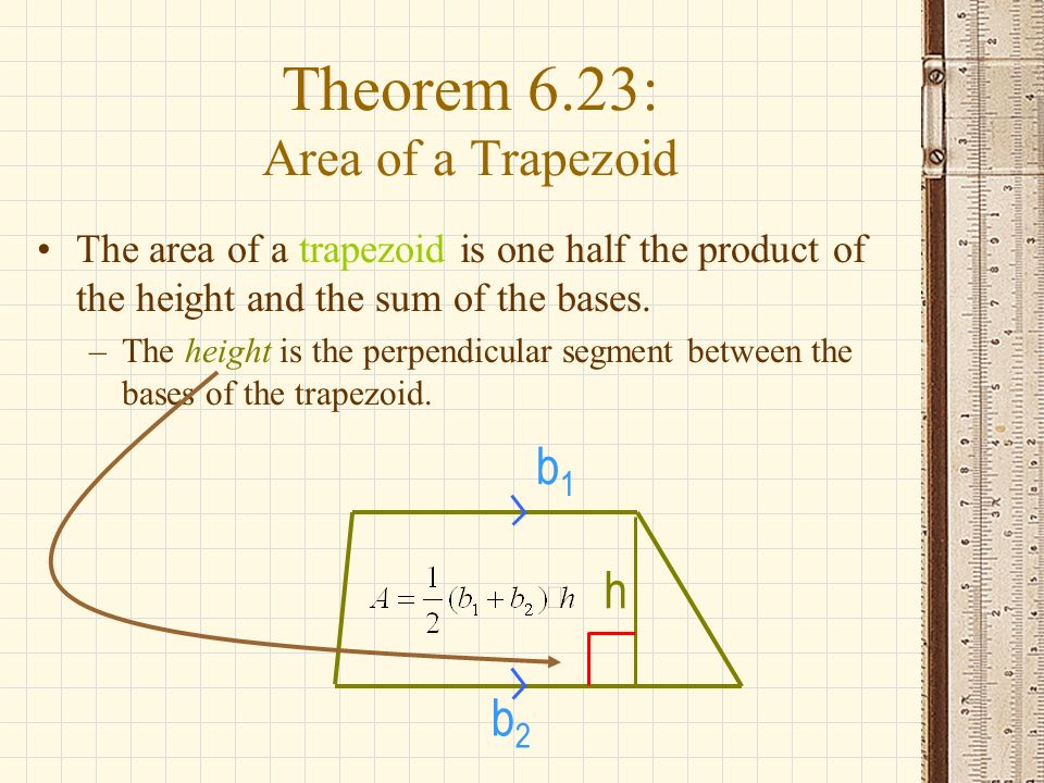 how to find the area of half a trapezoid
