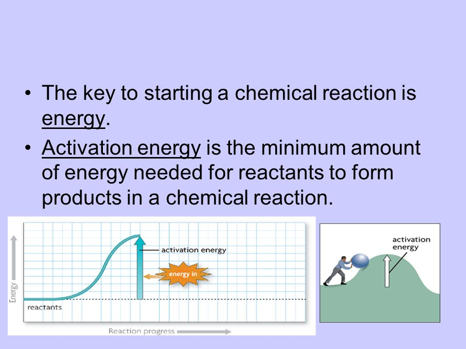 The key to starting a chemical reaction is energy.