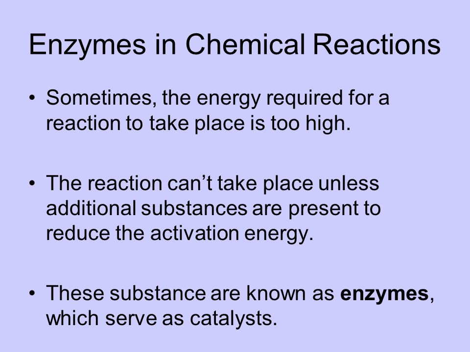 Enzymes in Chemical Reactions