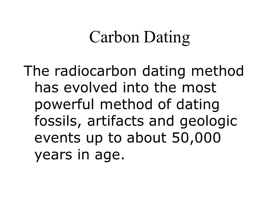Carbon dating methods and fossils on mars