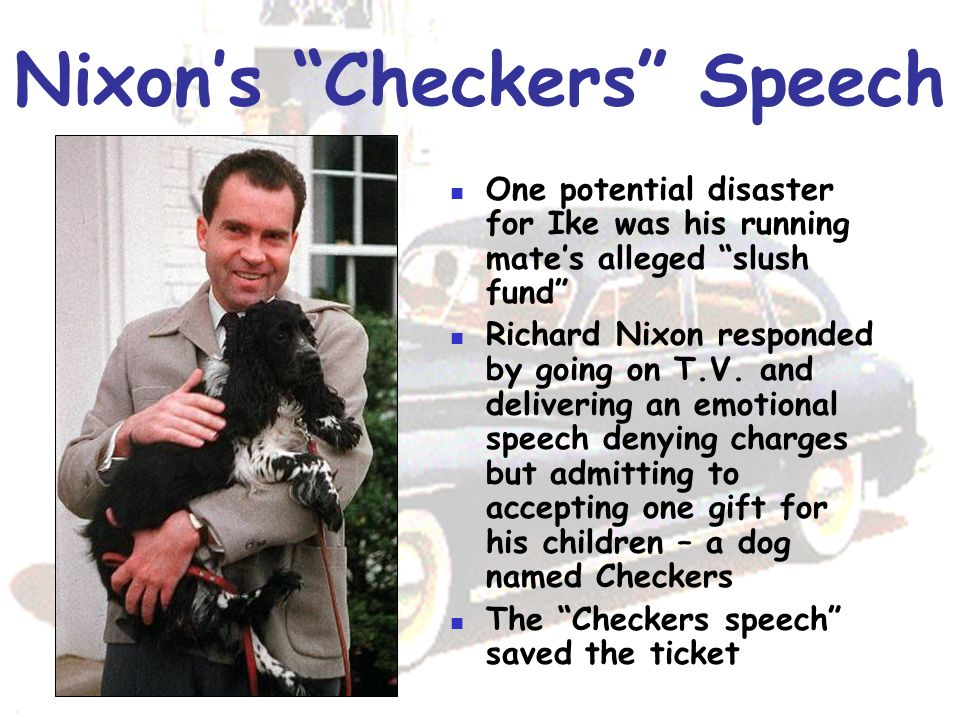 Image result for richard nixon gives his famous checkers speech