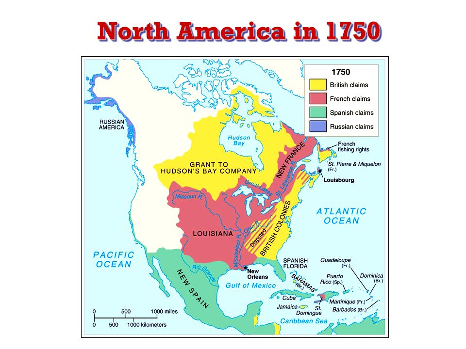 North America Map 1750.North America In North America In 1750 During The 1700s Both The