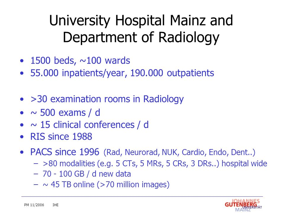 University Hospital Mainz and Department of Radiology