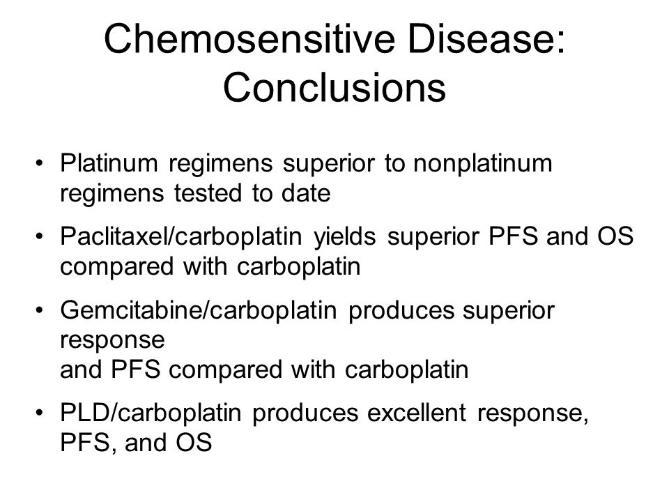 Chemosensitive Disease: Conclusions