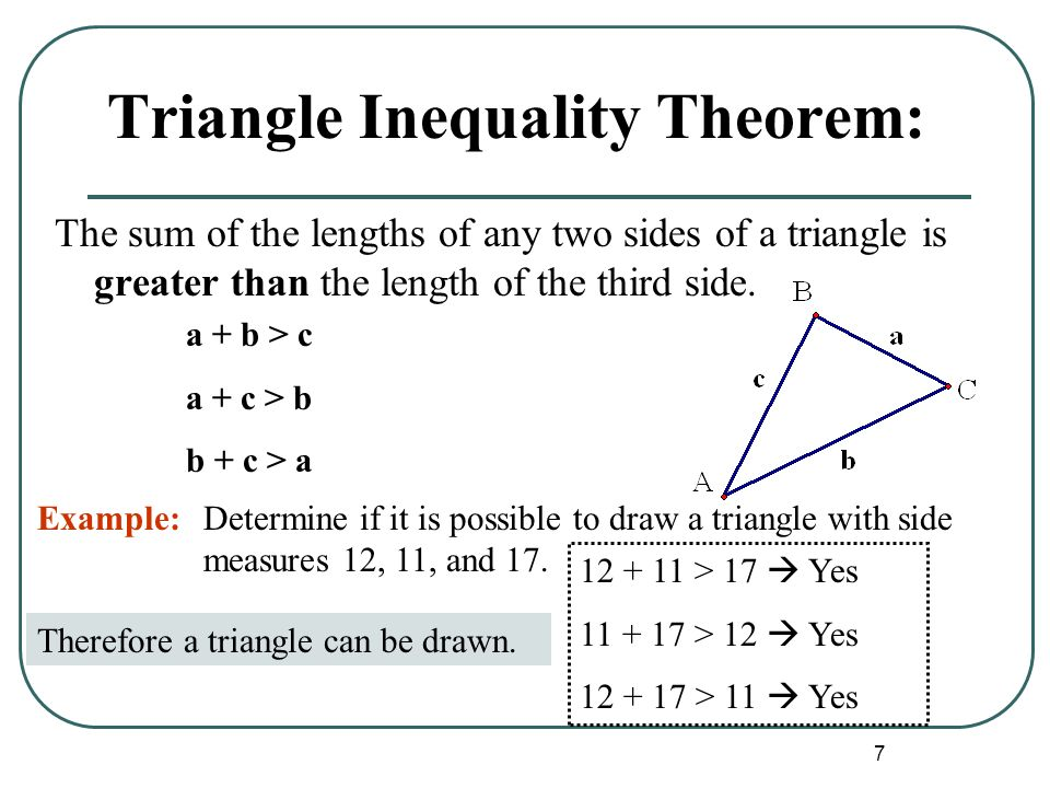 Triangle Inequalities Ppt Download