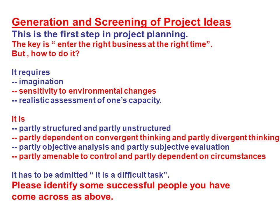 environmental management project ideas