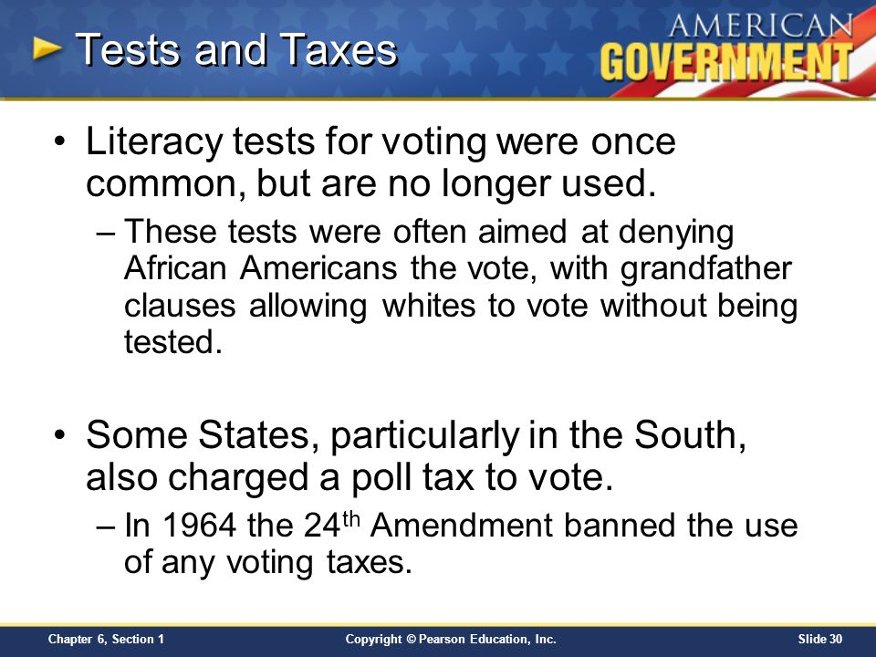 Chapter 6 Voters And Voter Behavior Section 1 Ppt Video Online