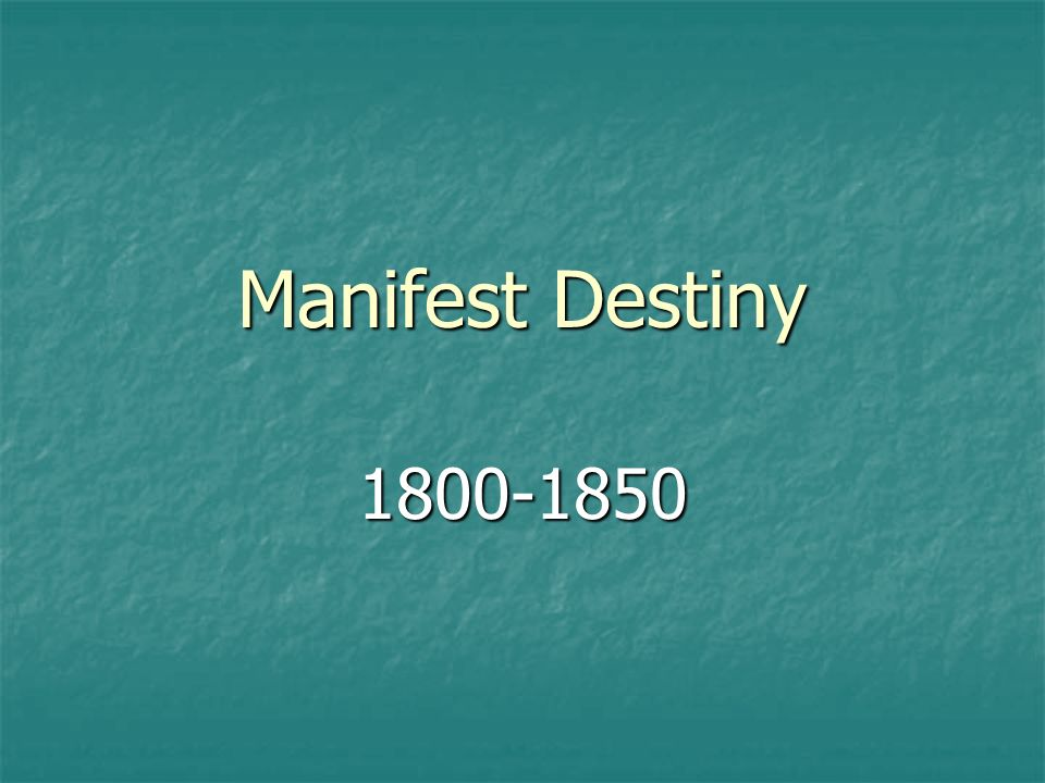manifest destiny term or reality Manifest destiny final draft manifest destiny was the 19th century american belief that the united states was destined to expand west on the north american continent this was all done in the spirit of manifest destiny, a term coined in an 1845 editorial be john l o'sullivan.