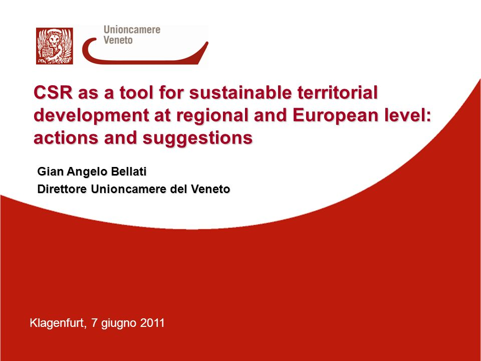 CSR as a tool for sustainable territorial development at regional and European level: actions and suggestions