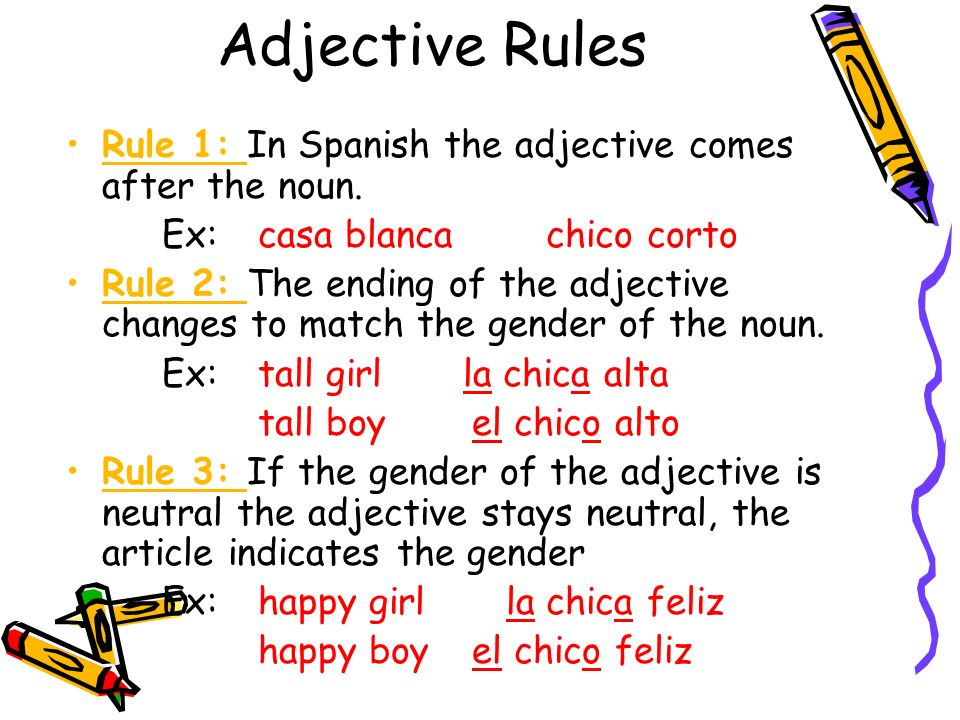 What Are Adjectives How Do We Use Them Is Spanish Ppt Video