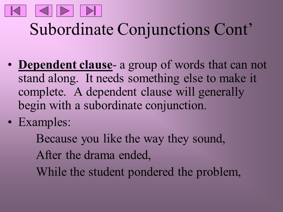 Conjunctions Coordinate Conjunctions Used To Create Compound