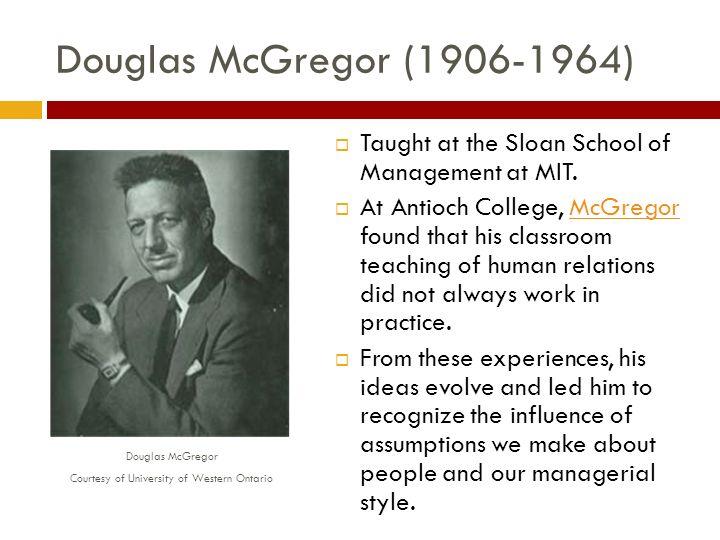 douglas mcgregor contribution to management