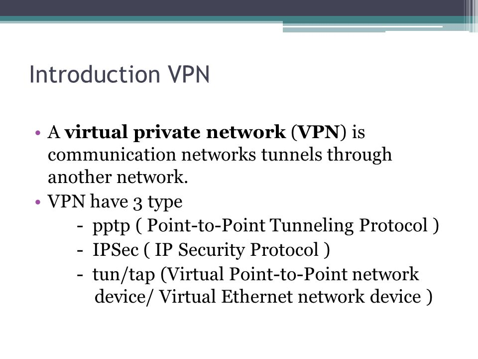 OpenVPN Vs IPSec measure performance - ppt download