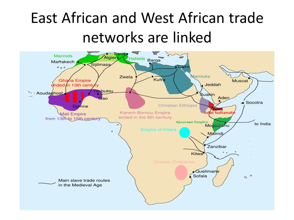 East African and West African trade networks are linked