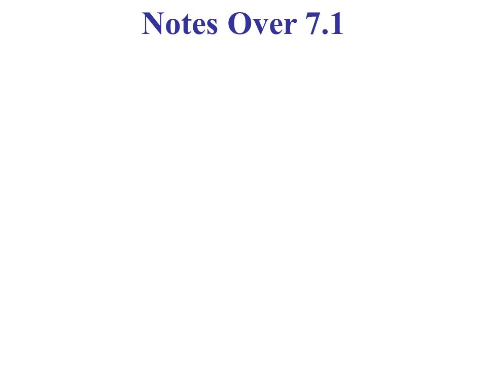 Notes Over 7.1