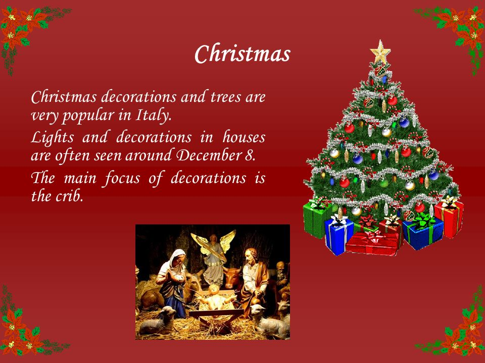 4 christmas christmas decorations - Italian Christmas
