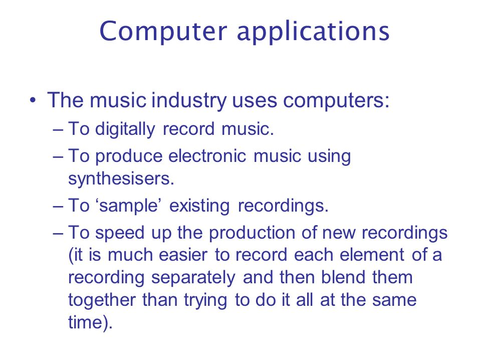5 uses of computer