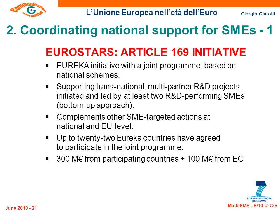 2. Coordinating national support for SMEs - 1