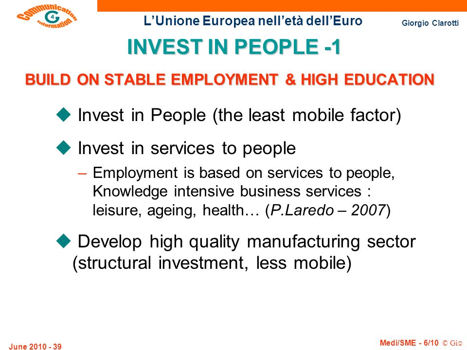 BUILD ON STABLE EMPLOYMENT & HIGH EDUCATION