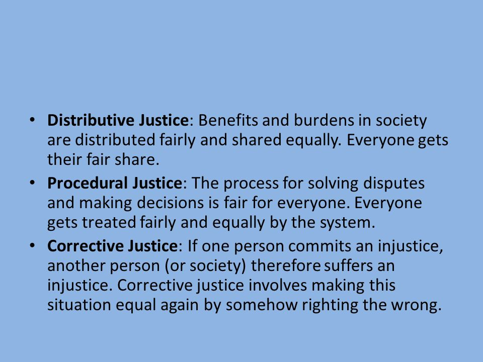 distributive and corrective justice