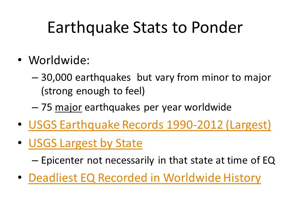 8 1 What is an Earthquake? 8 2 Measuring Earthquakes - ppt