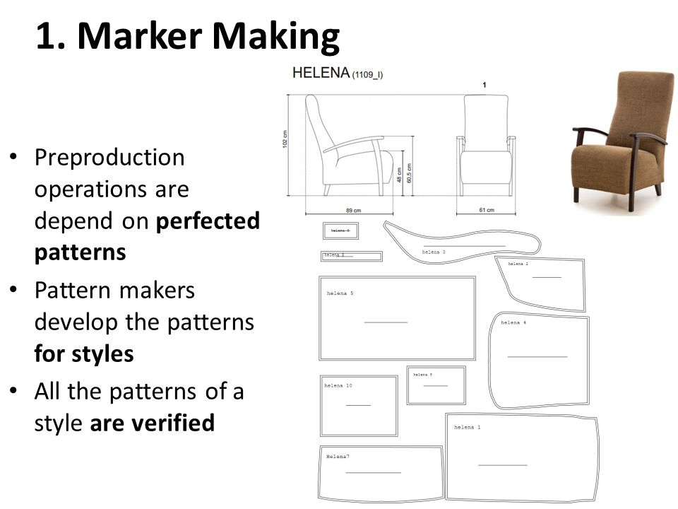 Preproduction Operations: marker making, spreading, and