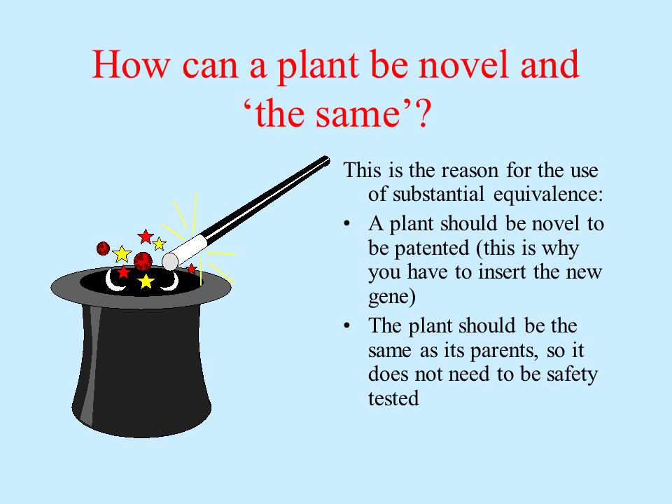 How can a plant be novel and 'the same'