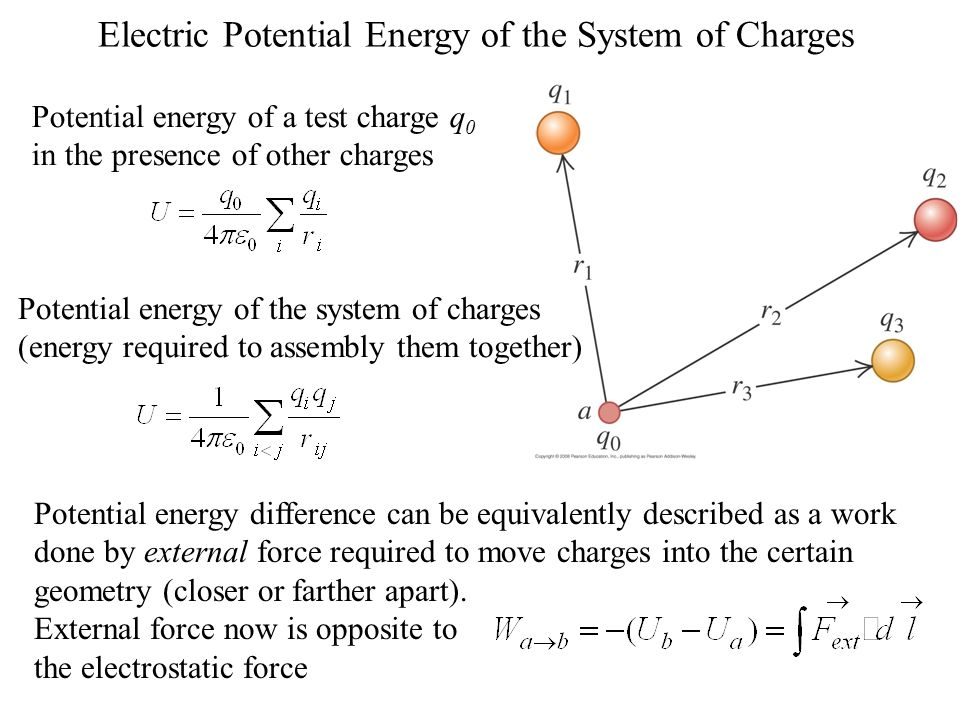 electric potential energy of the system of charges