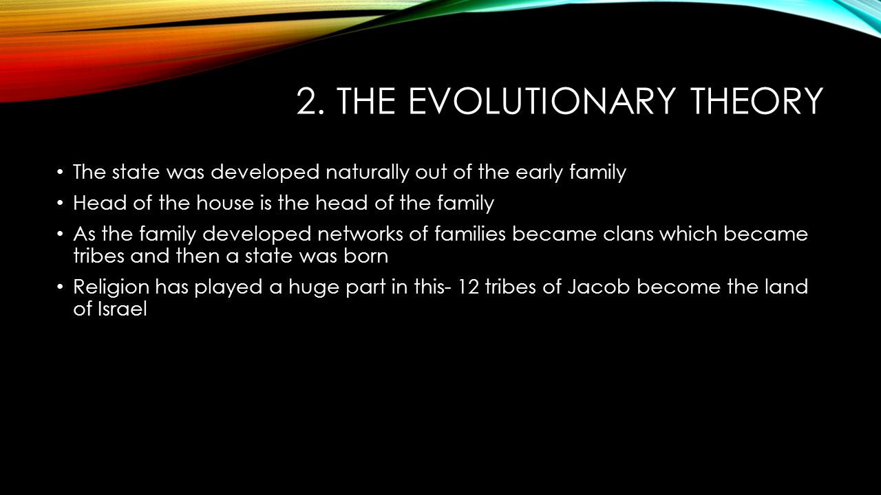 evolutionary theory of origin of state