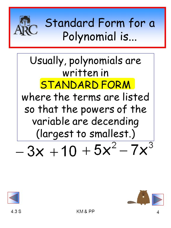 43 Introduction To Polynomials Ppt Video Online Download