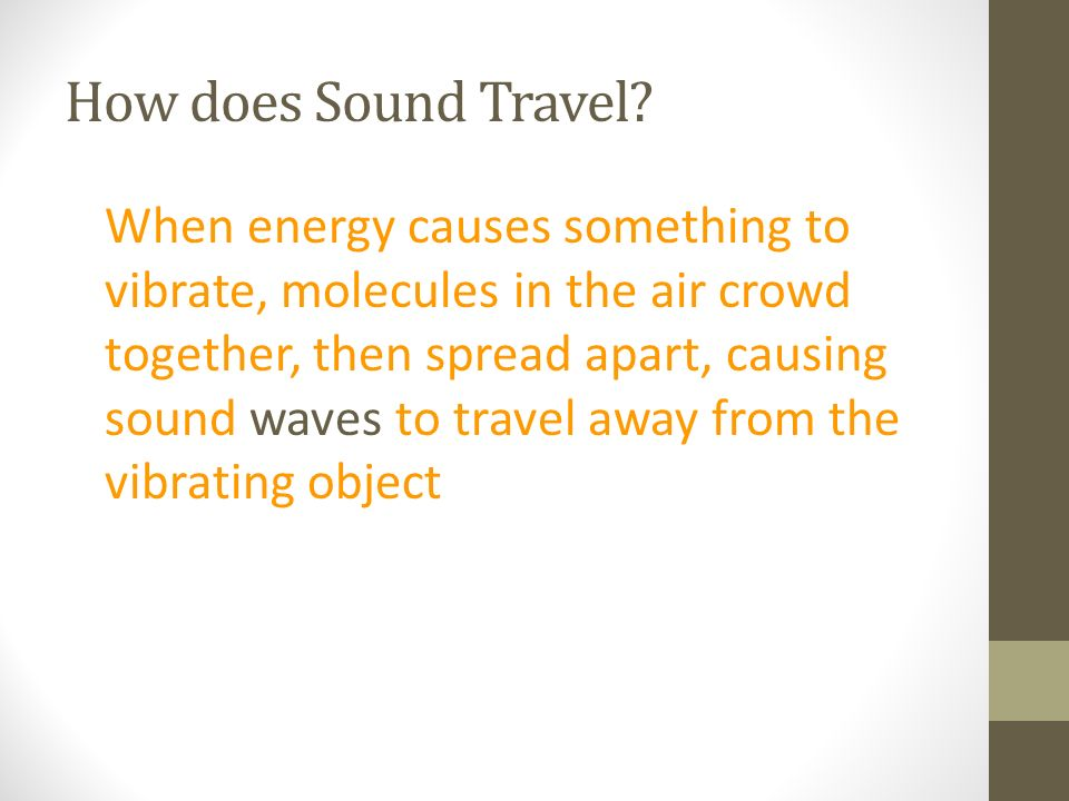 How does Sound Travel