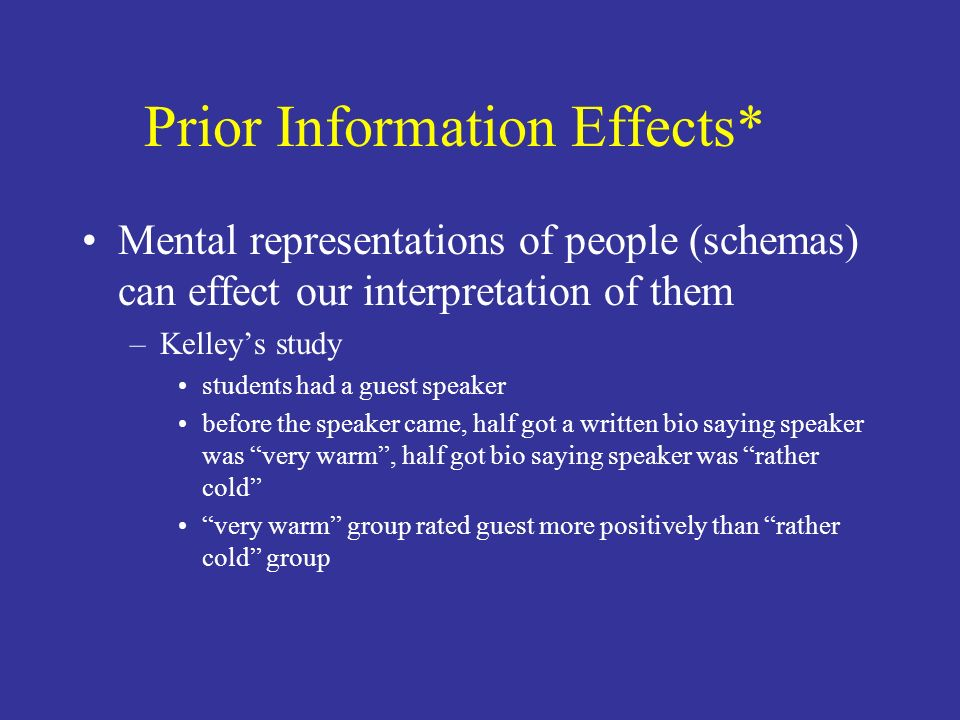 Prior Information Effects*