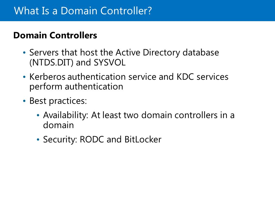 Introduction to Active Directory Domain Services - ppt download