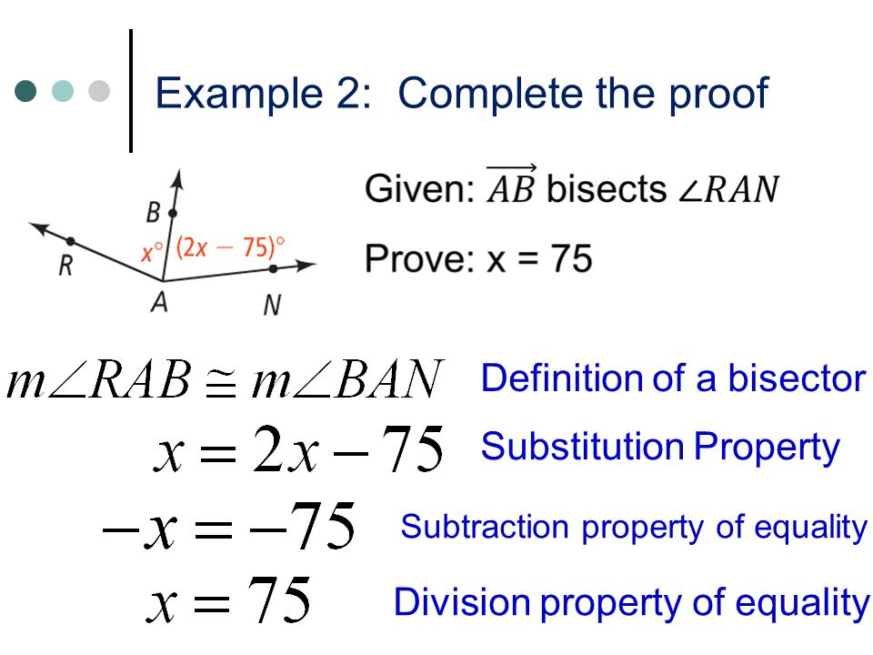 Lesson 2-5: Algebraic Proofs - ppt video online download