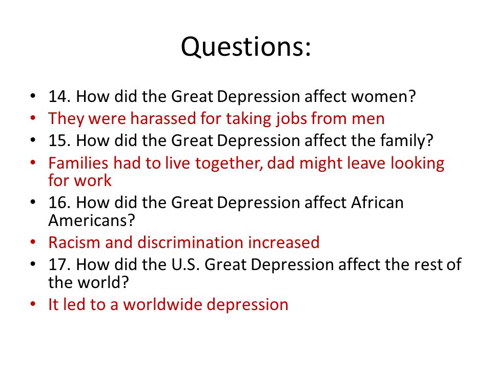 review 1930\u0027s ppt video online downloadhow did the great depression affect women