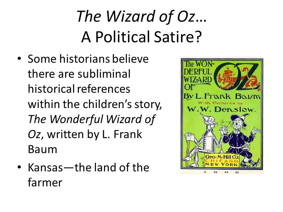 wizard of oz political satire