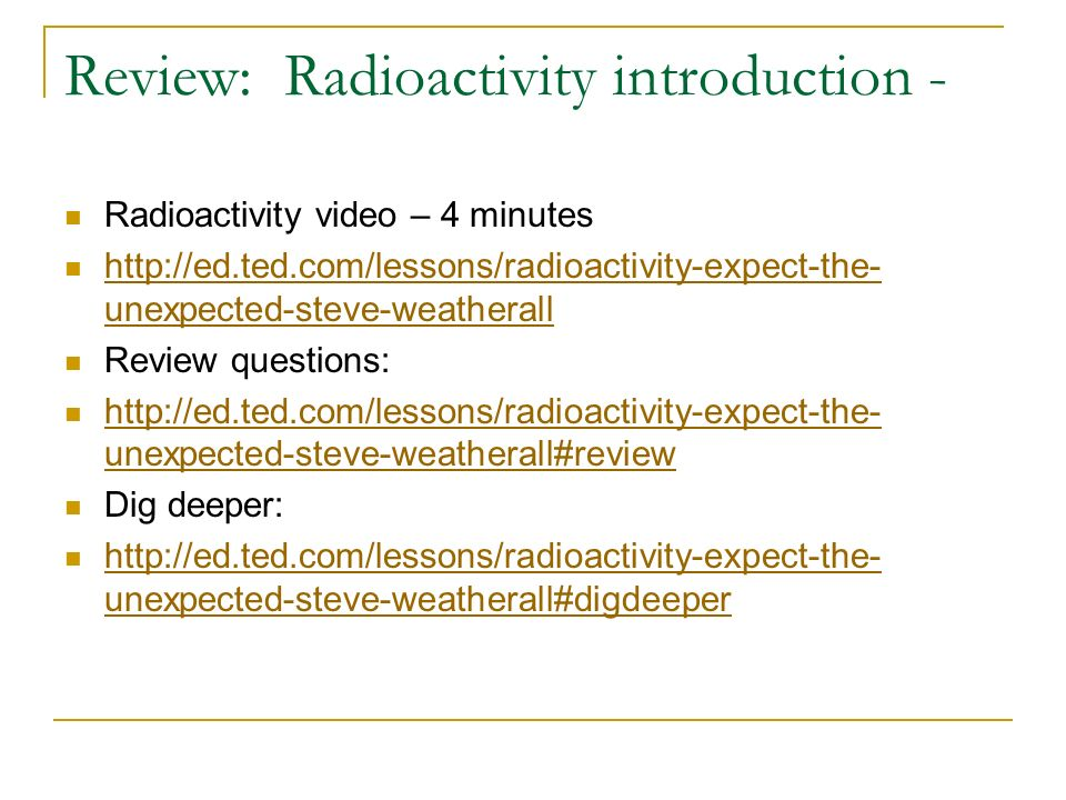 Nuclear Chemistry Objective To Explain The Process Of