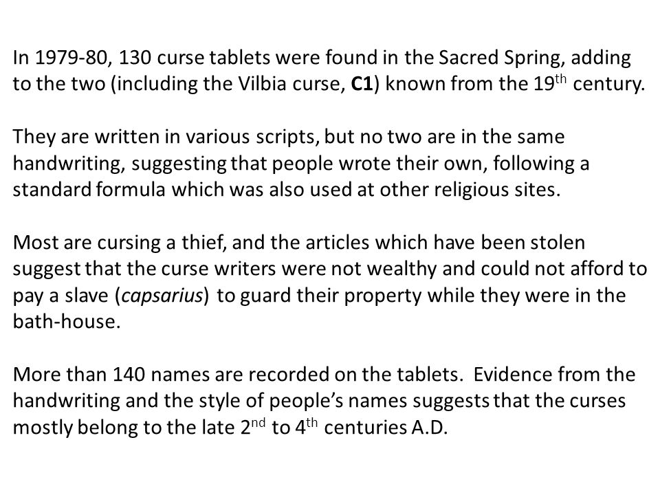Curse Tablets in the Roman Baths Museum, Bath. - ppt video online ...