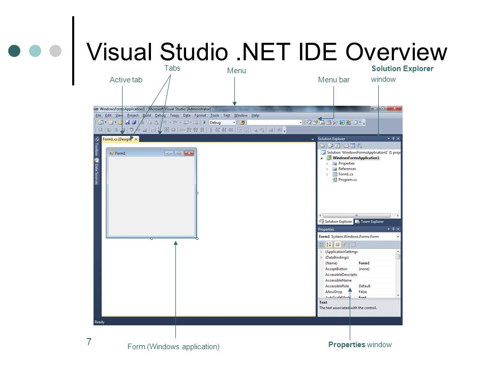 Ppt developing windows and web applications using visual studio.