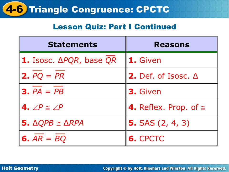 lesson 4 6 problem solving triangle congruence cpctc answers