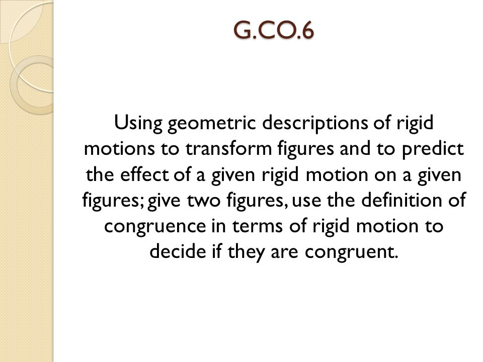 G CO 1 Know precise definitions of angle, circle, perpendicular lines,  parallel lines, and line segment, based on the undefined notions of point,  line,