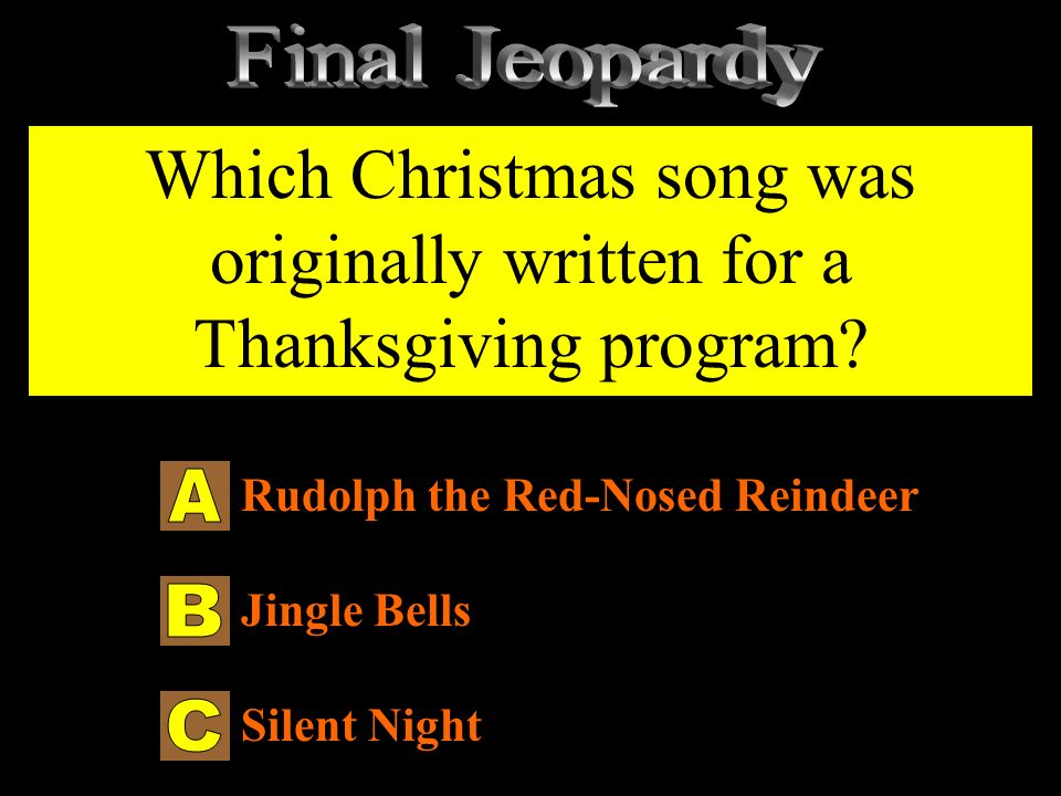 Thanksgiving Jeopardy - ppt download