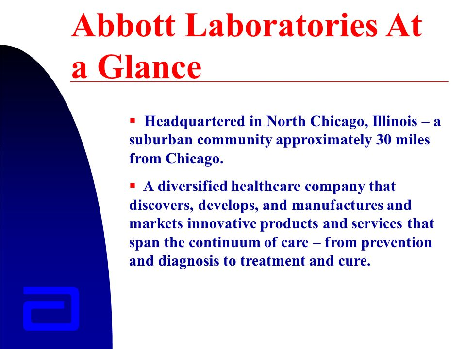 Abbott Laboratories At A Glance