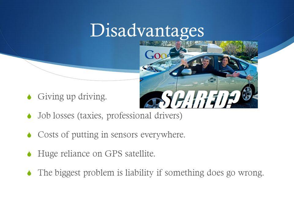 disadvantages of driving a car