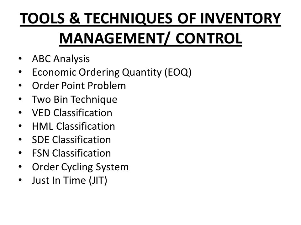 the main purpose of abc analysis of inventory control is