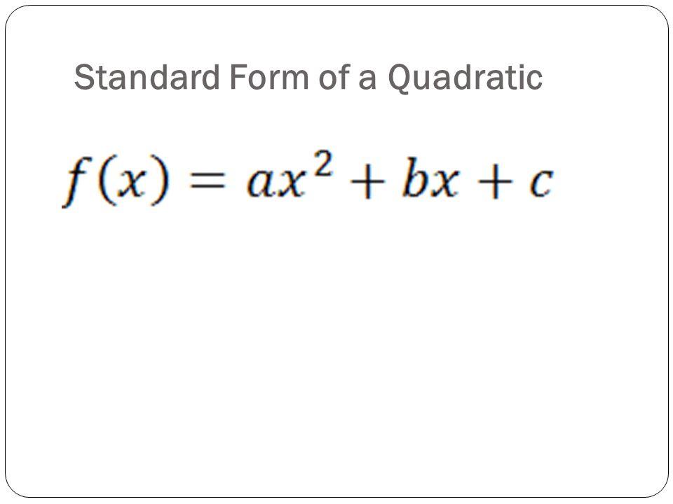 Vertex Form of a Parabola - ppt download