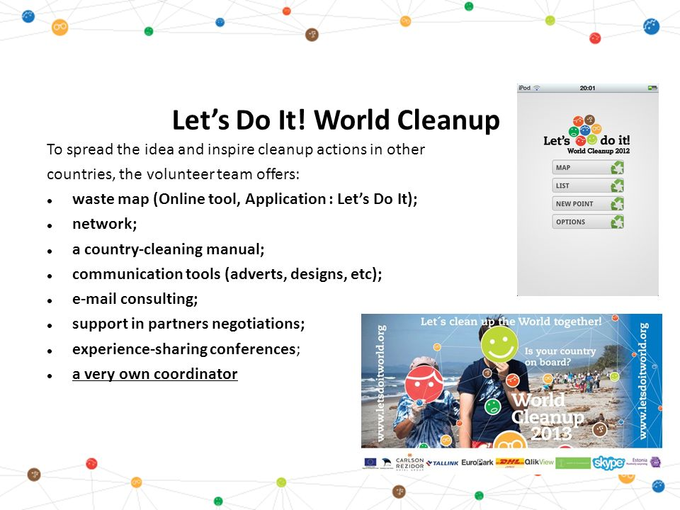 Let's Do It! movement & World Cleanup - ppt video online