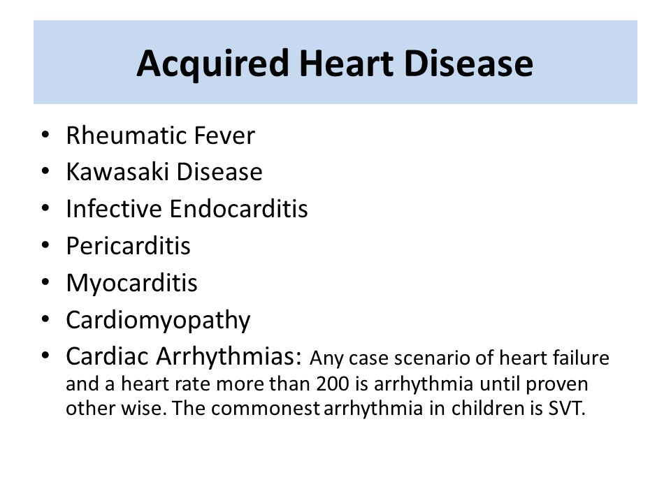 What is heart disease acquired
